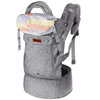 Lictin Baby Carrier Sling for Newborn - Baby Wrap Carriers Front and Back, Breathable Adjustable Swaddle Wrap Ergonomic Breastfeeding Baby Sling Carrier for Infants up to 33 lbs/15kg, Handsfree(Grey)