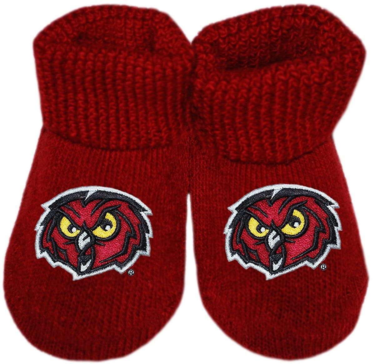 Temple University Owls Newborn Baby Bootie Sock