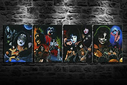 Canvas Rock Band Kiss Art print POSTER