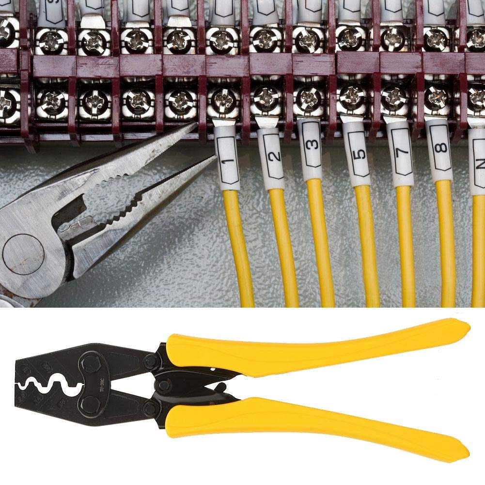 Herramienta para prensar terminales de cables Alicates para prensar cables multifunci/ón profesional de alta dureza Herramienta manual para prensas de cables Prensas Kit de herramientas para prensar