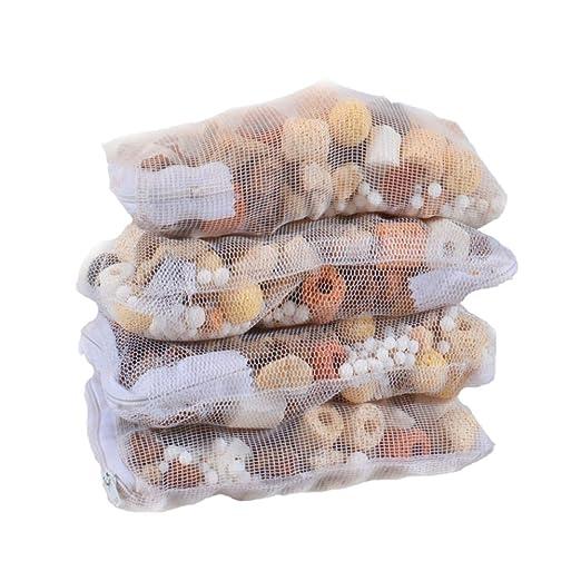 Anillos Benhai de cerámica de filtro para acuario, 500 g, filtro casero de bolas biológicas: Amazon.es: Hogar