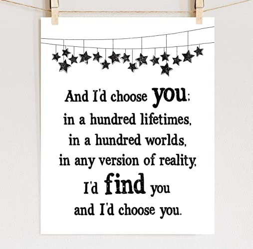 Amazoncom The Fault In Our Stars Quote Print On Cotton Paper