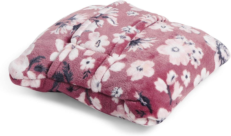 Vera Bradley Women's Fleece Fleece Travel Blanket with Trolley Sleeve