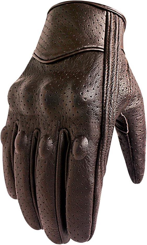 Superbike Gants de moto en cuir de ch/èvre compatible /écran tactile pour homme avec protection des phalanges