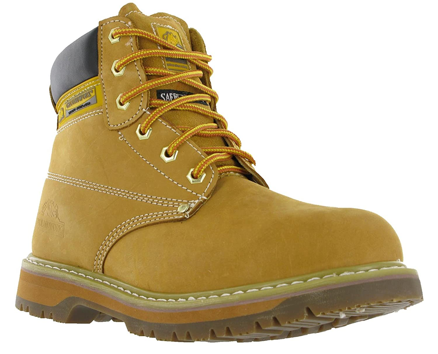 dde2f506916 Groundwork Mens SK21 Leather Lace Safety Steel Toe Cap Work Boots ...
