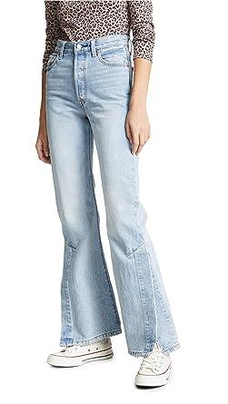 4cb0f78fca59d3 Levi's Women's Ribcage Split Flare Jeans at Amazon Women's Jeans store