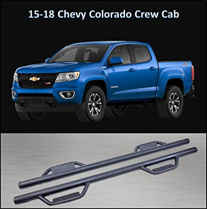 Chevy Colorado Crew Cab >> Amazon Com Conext Hoop Style Dropped Steps Textured Nerf Bars For