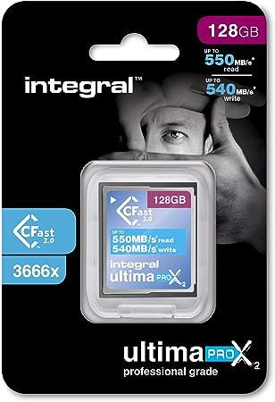 TALLA 128 GB. Tarjeta de memoria integral UltimaPro X2, CFast 2,0. 128 GB