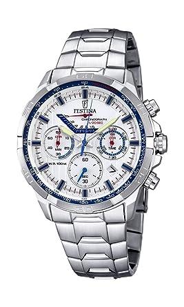 Festina F6836/2 - Reloj de Pulsera Hombre, Acero Inoxidable, Color Plateado: Amazon.es: Relojes