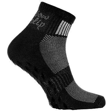 1 paire de Chaussettes Noir Antidérapantes ABS Idéal pour les Sports  Yoga d6644ba52e7