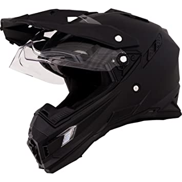 O neal Sierra Adventure Enduro MX-Casco para moto Flat, color negro Talla