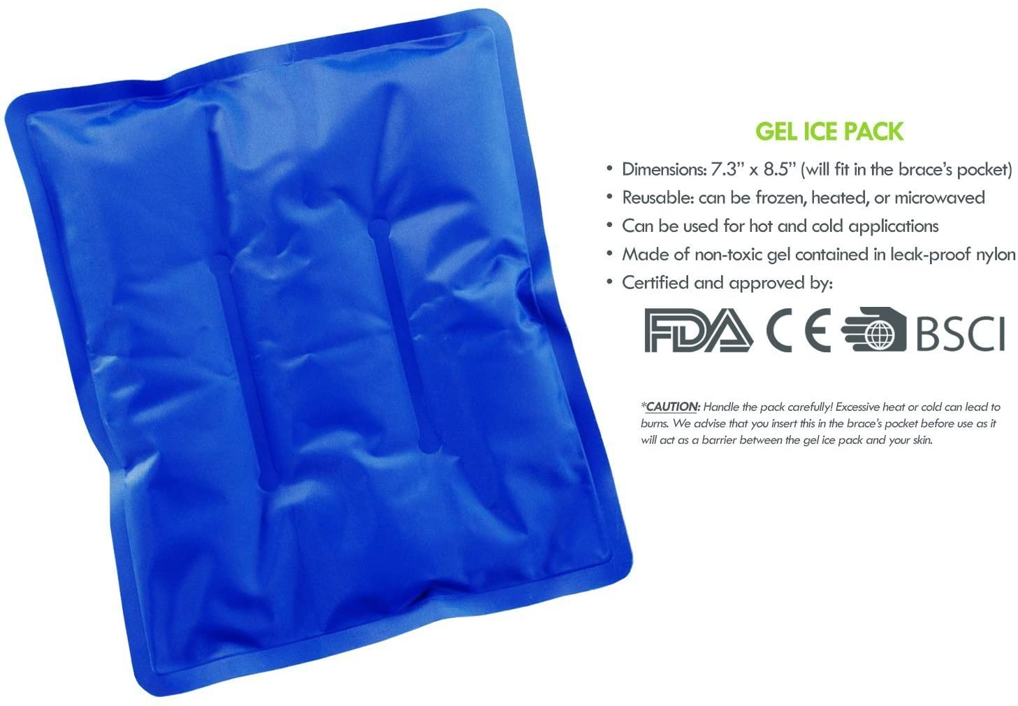 Hielo Pack Con Rodillera para frío y calor reutilizable terapia ...