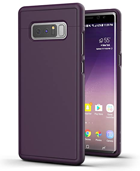 on sale a3c1d 08034 Encased Purple Case for Galaxy Note 8 Case, Ultra Lightweight Thin Fitted  Hard Cases with Rubberized Protective Finish (Slim Shield RS3/S8) for ...