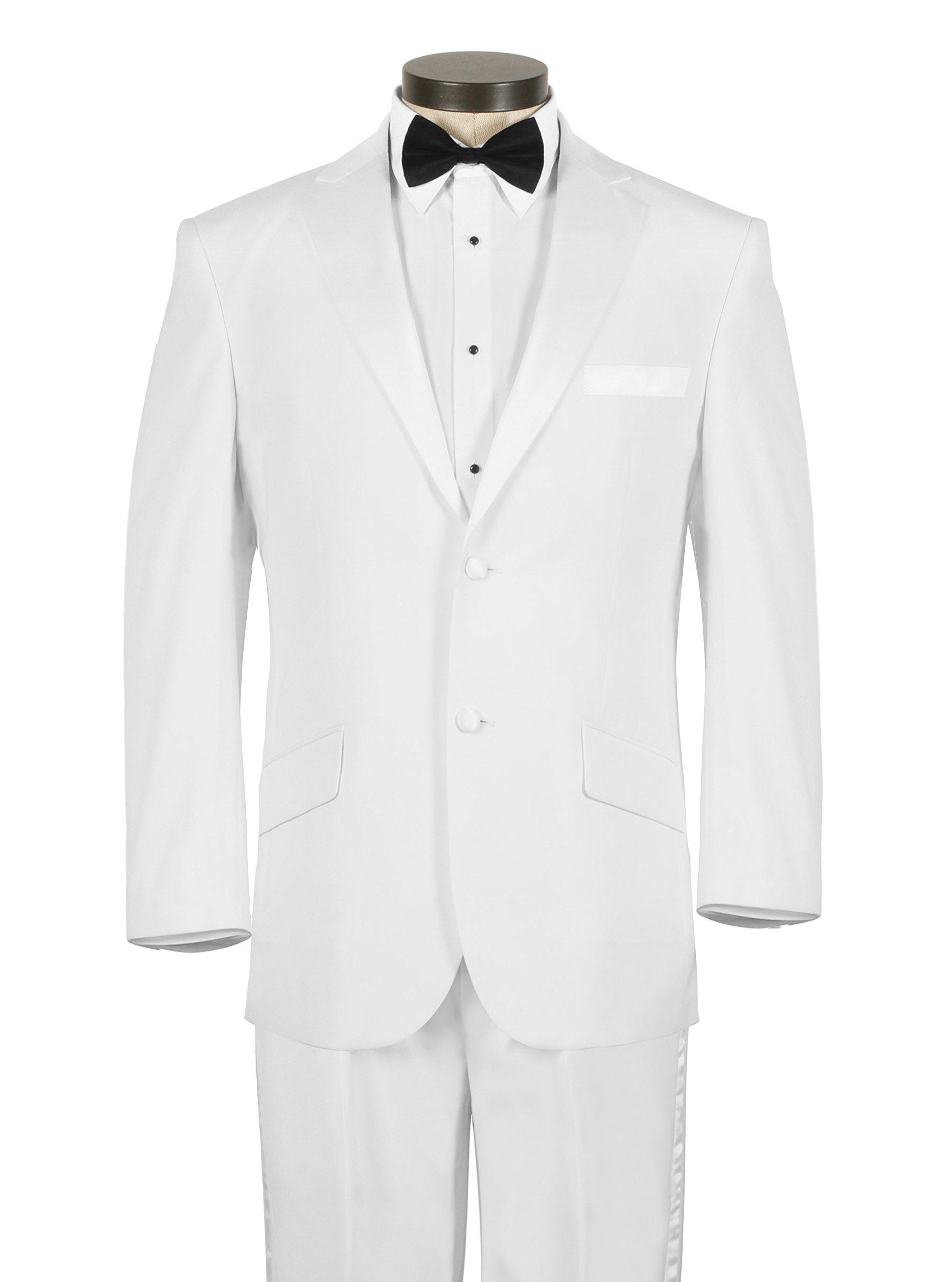House of St. Benets Modern Fit Tuxedo - White, 36 Short