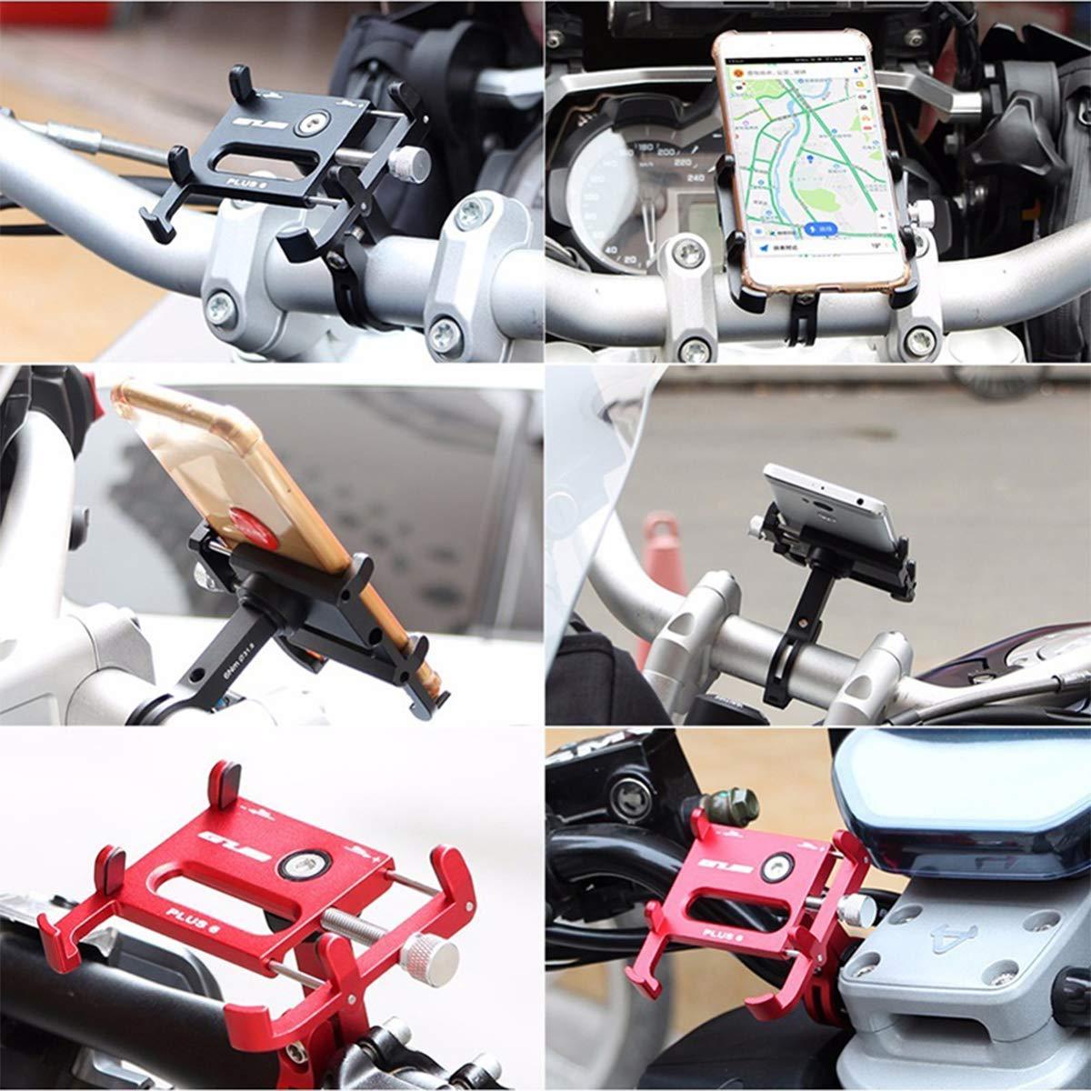 Blue Yannuo Trading GUB Bike Phone Holder Universal 360 Degree Rotation Aluminum Bicycle Handlebar//Motorcycle Handlebar Cell Phone Mount Clip Stand Bracket Holder Navigation Folder for Smart Phone