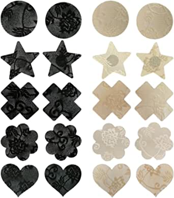 LUOEM Women's 10 Pairs Disposable Petals Pasties Breast Nipple Cover Stickers In