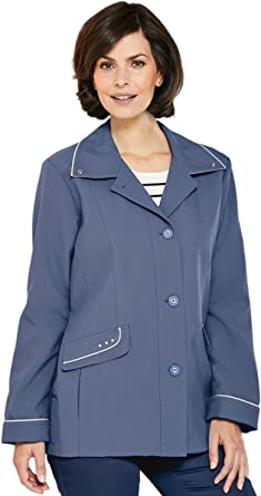 Chums Ladies Womens Blouson Style Lightweight Jacket Coat with Piping