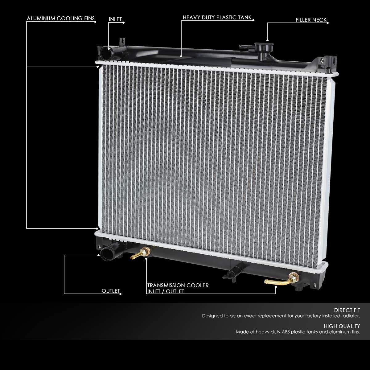 For 96-04 Suzuki Sidekick//Grand Vitara AT Lightweight OE Style Full Aluminum Core Radiator DPI 2087