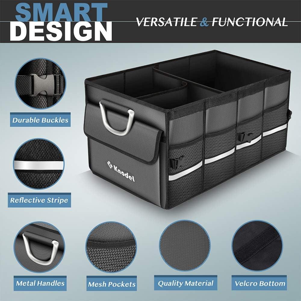 wasserdicht hochstandfestem Faltbeh/älter Knodel Robuster Kofferraumtasche mit klappbarem Deckel XL tragbarem multifunktionellem Lagerplatz und Gep/äckgestell