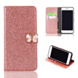 iPhone 6/6s Case, Culater® Luxury Flip PU Leather Slim Wallet Card Magnetic Case Cover For iPhone 6/6s4.7inch (Rose Gold)