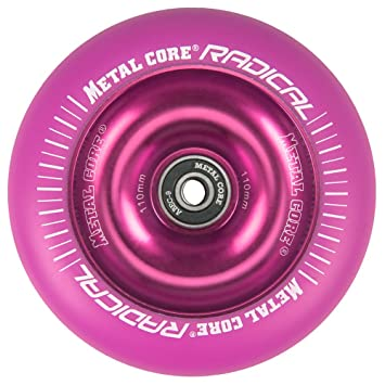 Metal Core Rueda Radical Monocromática para Scooter Freestyle, Diámetro 110 mm (Rosa): Amazon.es: Deportes y aire libre