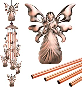 ME9UE Angel Wind Chimes Outdoor, Angel Chime Decor, Portable Mobile Angel Wind Chime, Angel Wind Chime with 7 Angels for Home, Yard, Patio, Garden Decoration, Valentines Gift, Festival Gift for Mom