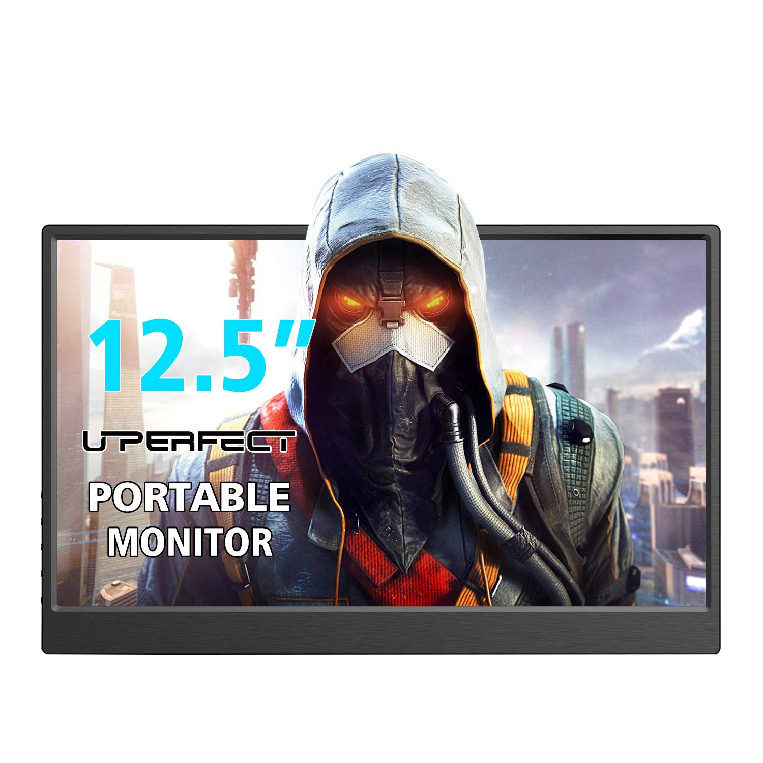UPERFECT Computer Monitor 12.5 Inch Monitor 1000 1 Screen 1920×1080 Second Display 16 9 External Display Built-in Speaker Gaming Monitor Fit for HDMI USB DC Raspberry Pi Switch PS3 PS4 Xbox 360 PC
