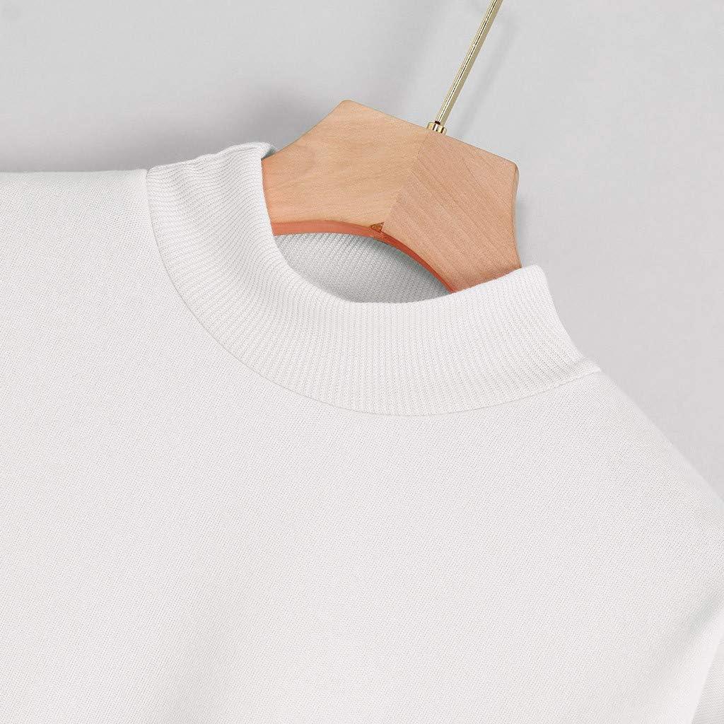 Felpa Manica Lunga Plus Collo Alto Stampa Invernale Moda Donna