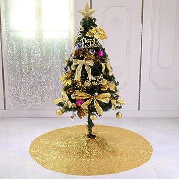 Zdada 48 Gold Christmas Tree Shirt Sequin Christmas Tree Skirt Gold Christmas Tree Decorations