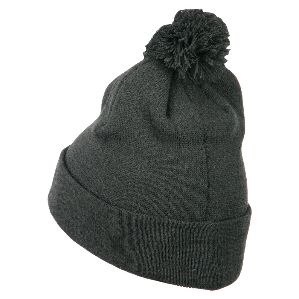 Amazon.com  MG Pom Beanie with Cuff - Dark Grey OSFM  Clothing 10076930344