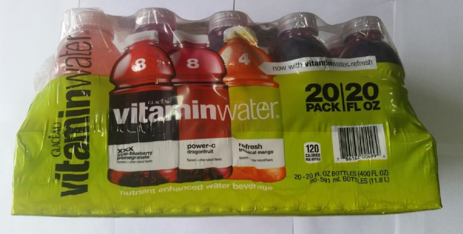 Glaceau Vitamin Water Variety Pack, 20 Count by Glaceau