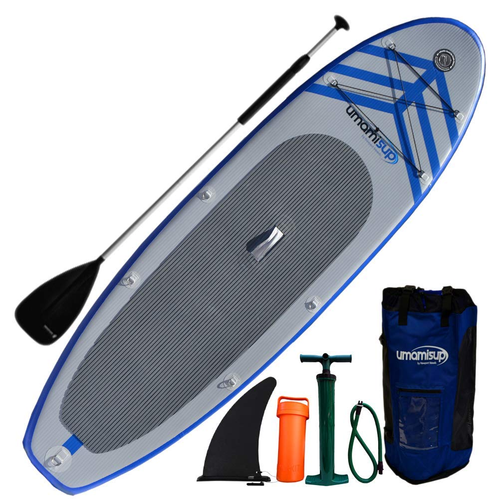9-Feet x 10-Inch Newport Vessels Mens Umami Stand Up Paddleboard Set White//Blue