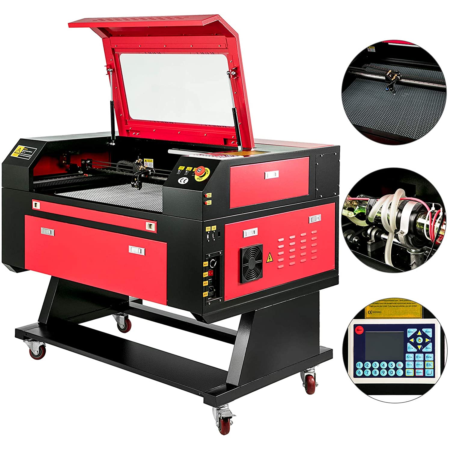 AMACCHI Macchina Per Incisione 700x500mm Tagliatrice Taglio Laser 60W Laser Engraving Machine Gas Co2 con USB Interfaccia