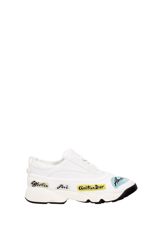 Christian Dior - Zapatillas de Piel para Mujer * 38.5 EU Bianco