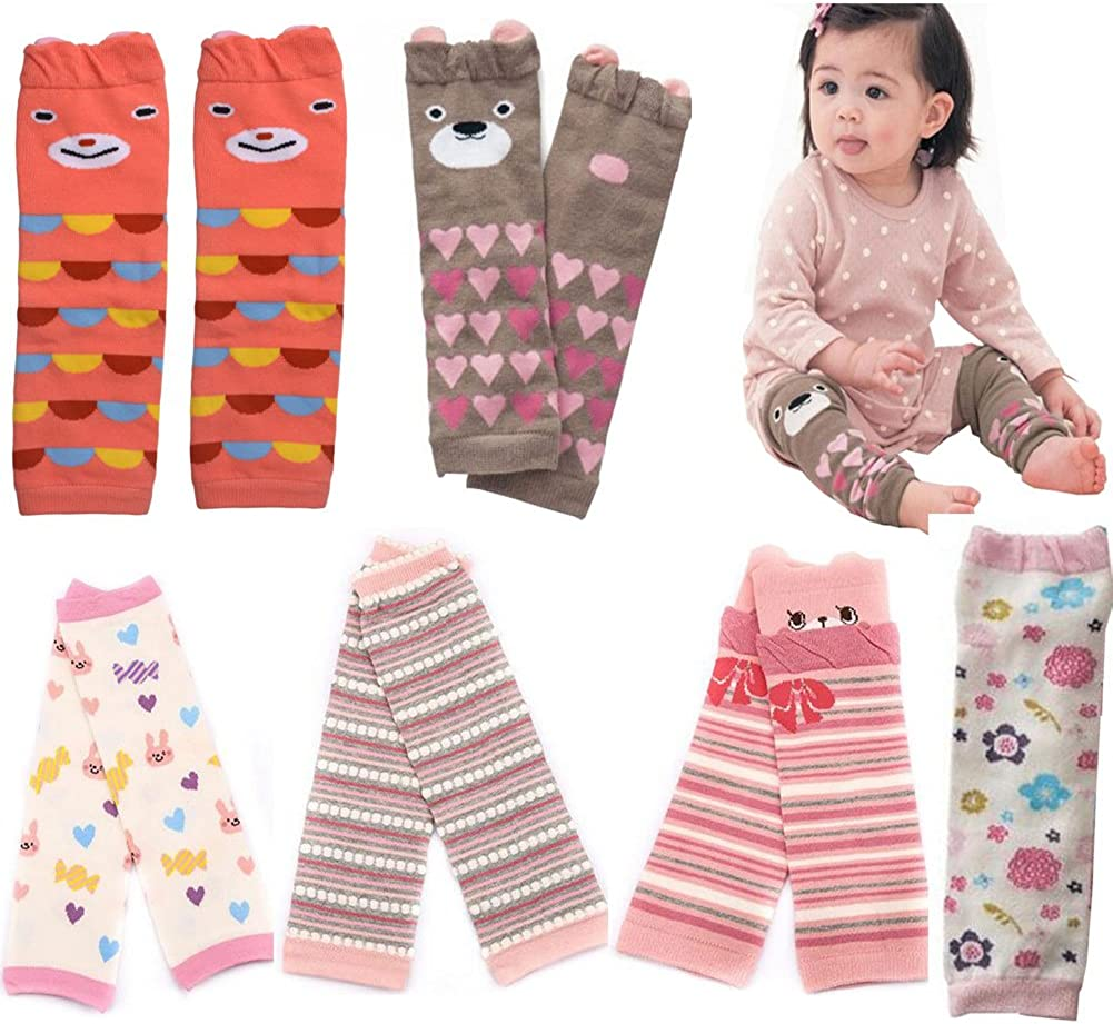 Lucky staryuan /® 6-pack Cotton Baby /& Toddler Leg Warmers Baby Shower Gifts