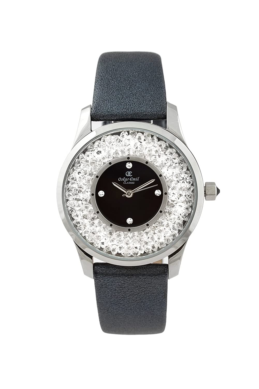 Oskar Emil - klassische Uhren - Classic Oskar Emil Damenuhr Alicia Schwarz women'Armbanduhr PH4900-C-PH01T Analog
