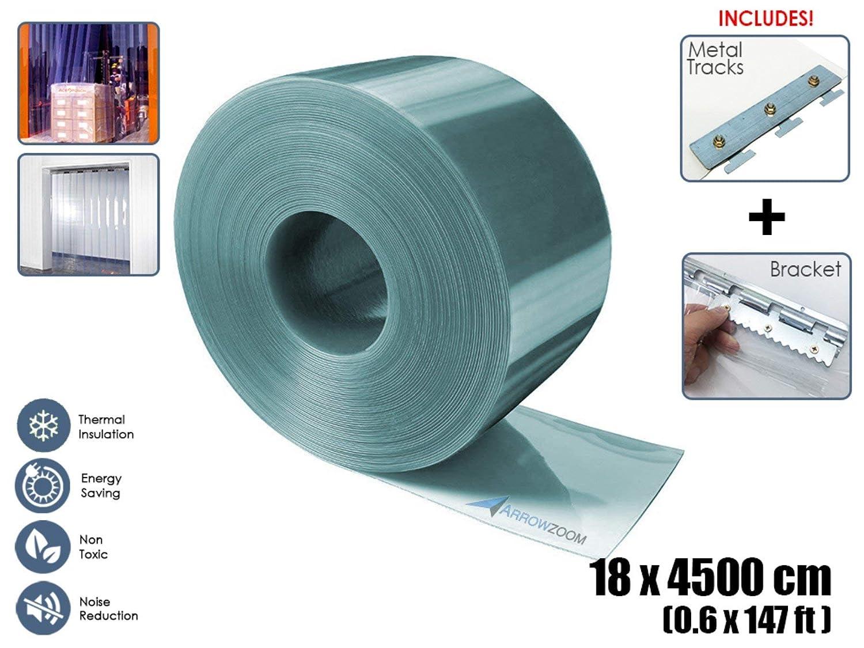1MM Thickness Clear Anti Scratch PVC Strip Curtain Door Kit for Freezer Doors and Warehouse Doors AZ1173 Arrowzoom New 1 Set of 120 X 210 cm//4 x 7 ft