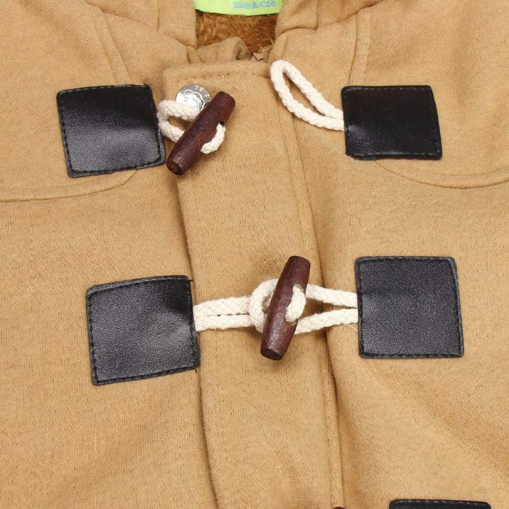 SAKAMU-Children Baby Boys Button Zipper Coats Jacket Warm Winter Hooded Kid Outwear
