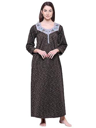9c96b4b28 Secret Wish Women s Printed Woolen Nighty Woolen Nighty Nightwear Multicolor  Nighty NT-E126