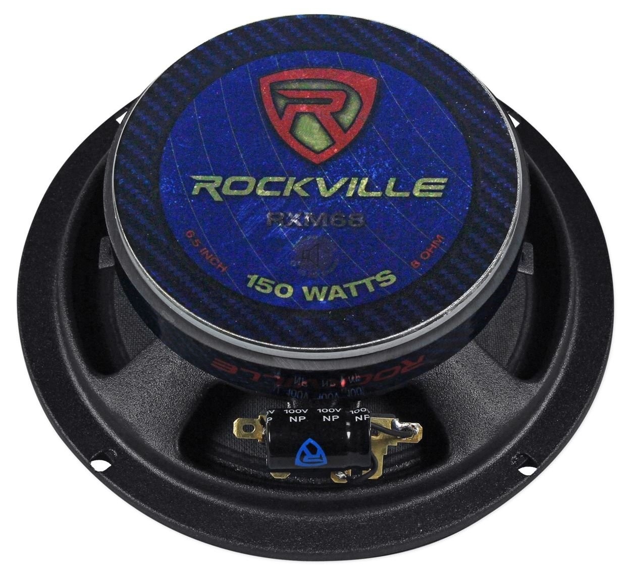 (2) Rockville RXM68 6.5'' 300w 8 Ohm Mid-Range Drivers Car Speakers, Mid-Bass by Rockville (Image #4)