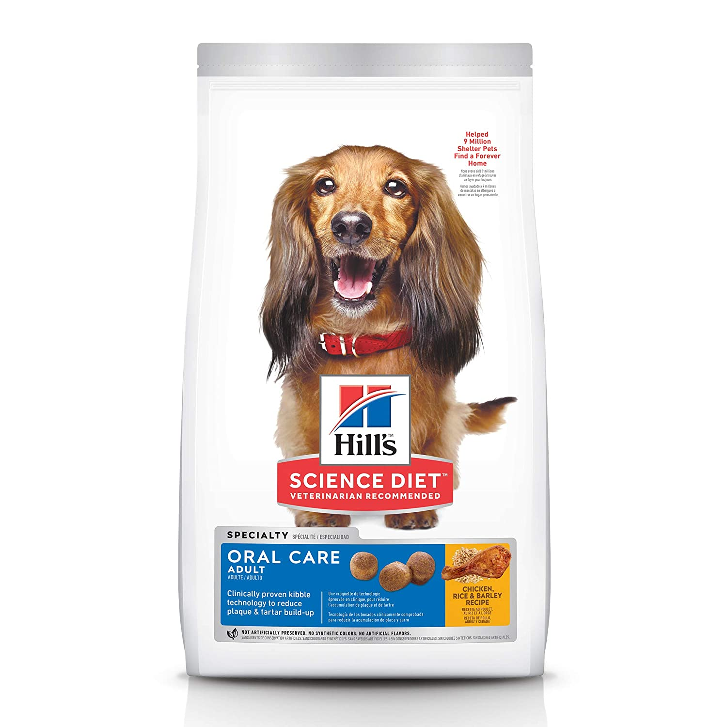 Hill's Science Diet Dry Dog Food, Adult, Oral Care, Chicken, Rice & Barley Recipe
