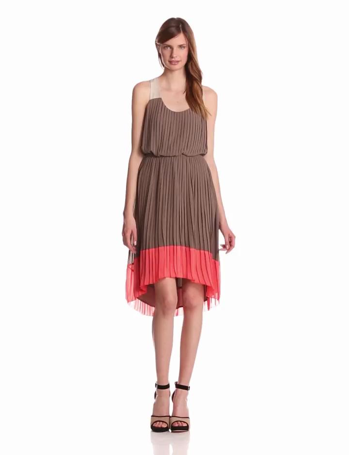 Jessica Simpson Womens Pleated Tank Dress