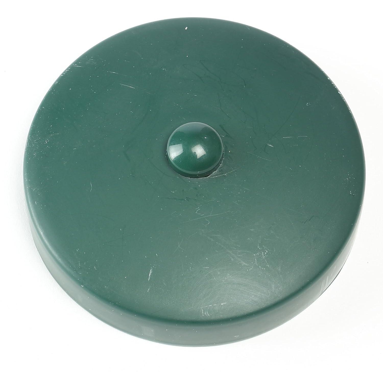 Chapeau / Capuchon vert foncé de clôture en plastique pour poteau rond Ø 12 cm de Gartenpirat