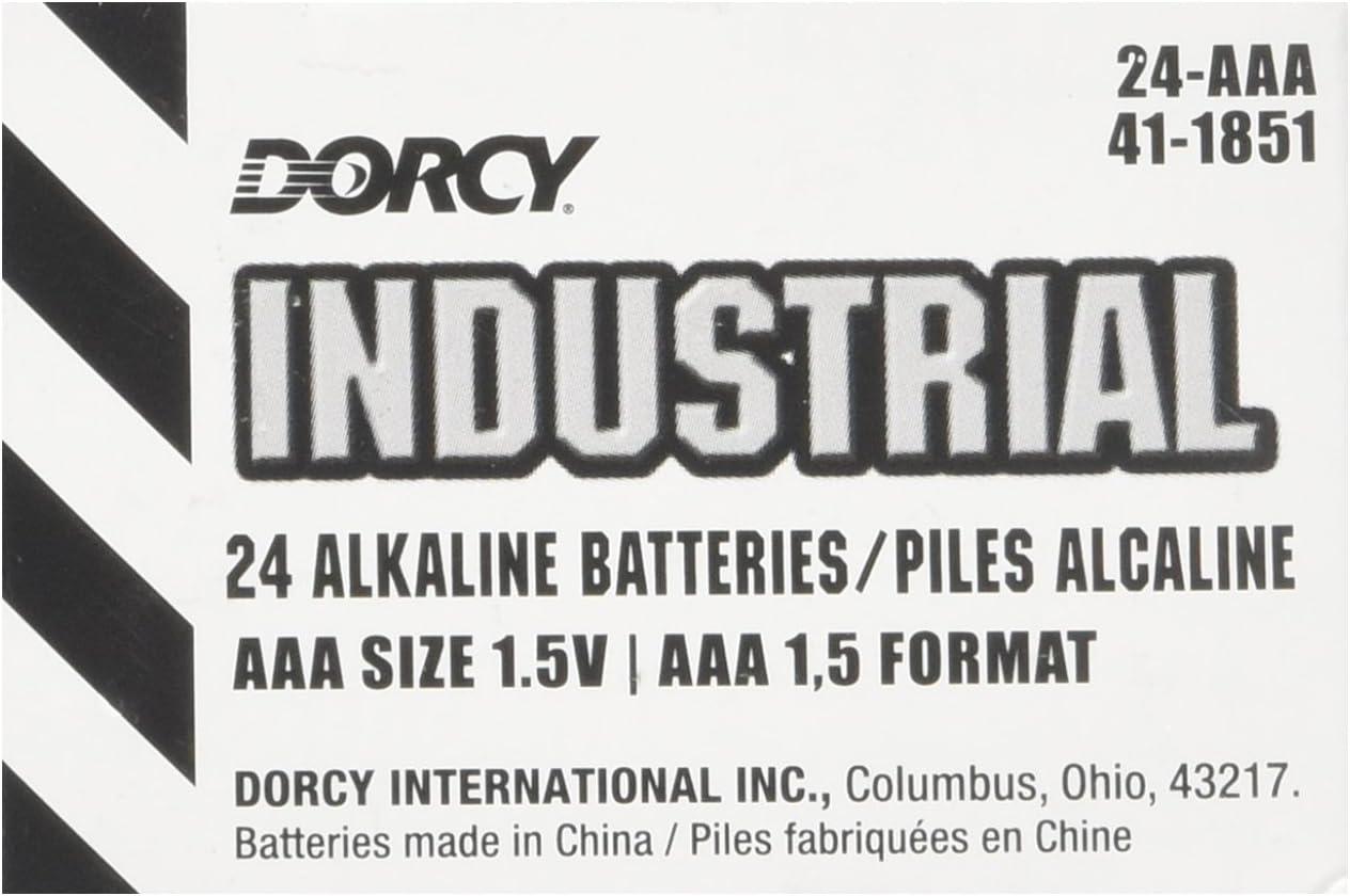 24 Pack DORCY INTERNATIONAL 41-1851 022617 Industrial Alkaline AAA Batteries