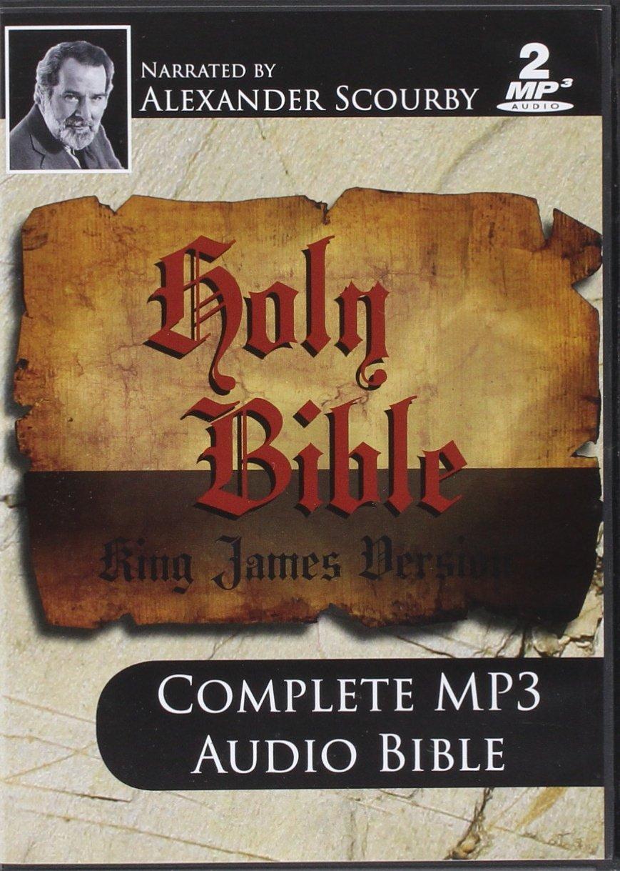 KJV Comp Scourby MP3 2 CDs Alexander Scourby-King james Version-Complete Audio Holy Bible-MP3-2 Discs-Audiobook, MP3 Digital ... Birth- Crucifixion-Resurrection- Saint Peter
