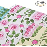 YOMA Fresh Flower Print Hanging File Folders Floral File Folders 12 Per Box