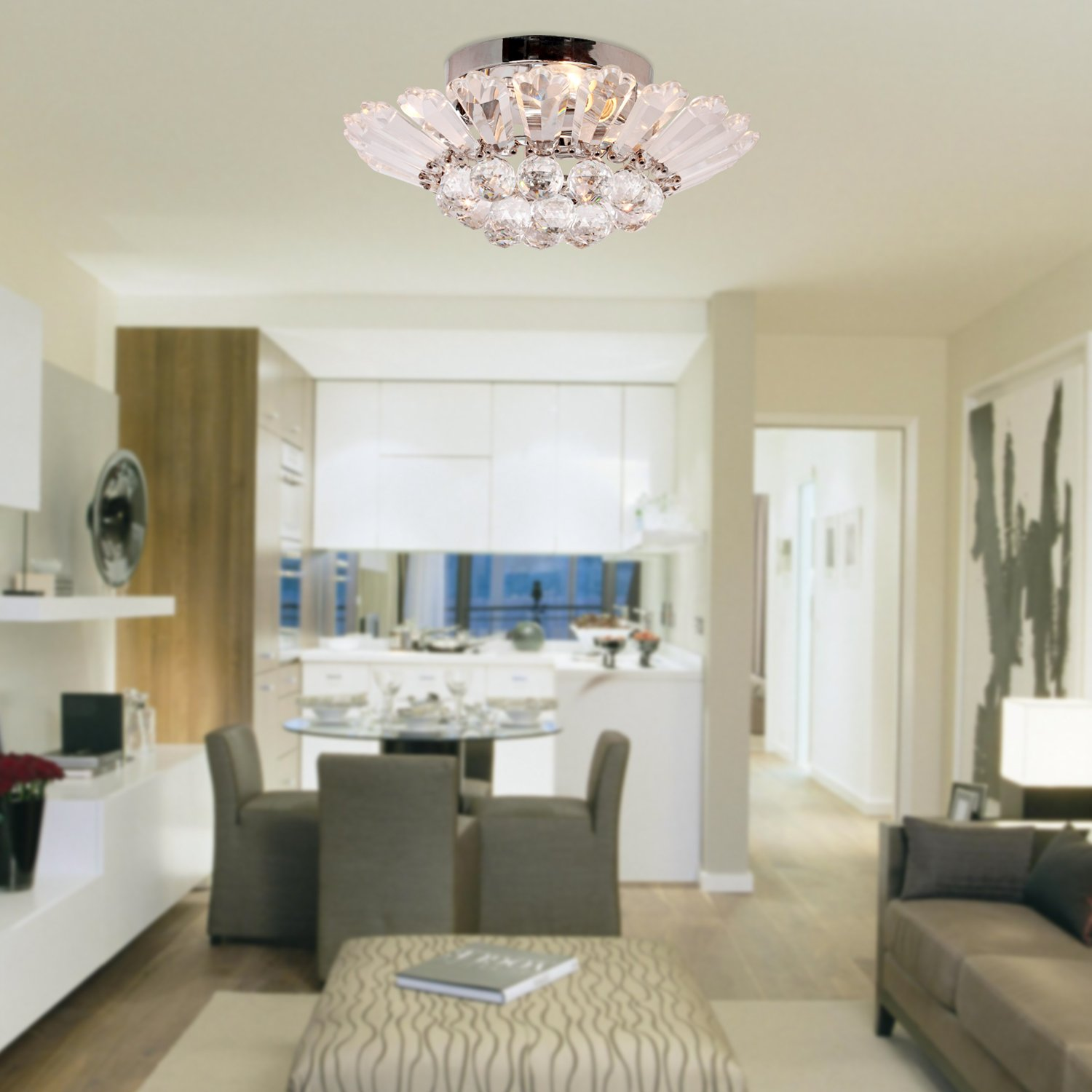 LightInTheBox Modern Semi - Flush Mount in Crystal Feature, Home ...