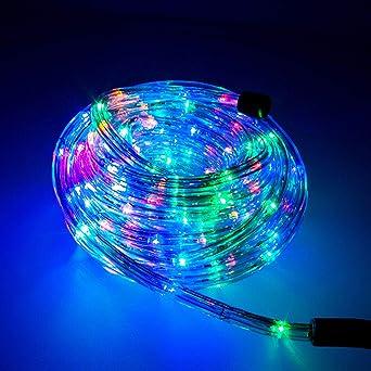 DreiWasser USB Lichtschlauch 10M 100 LEDs RGB Lichterschlauch Lichterkette Fein Schlauch 8 Modi mit Fernbedienung Wasserdicht Timer f/ür Deko