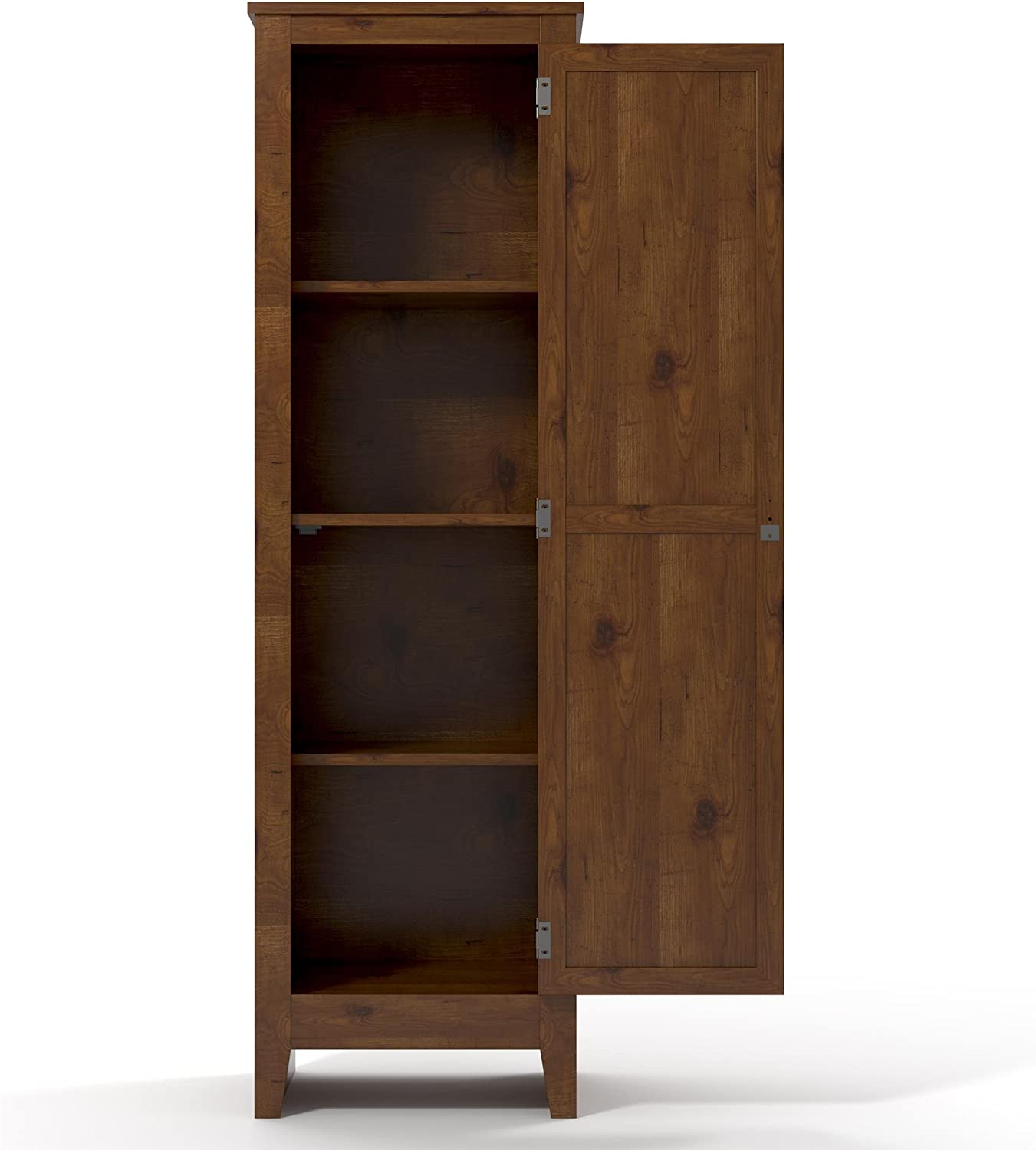 Amazon Com Ameriwood Home Single Door Pantry Old Fashioned Pine Furniture Decor