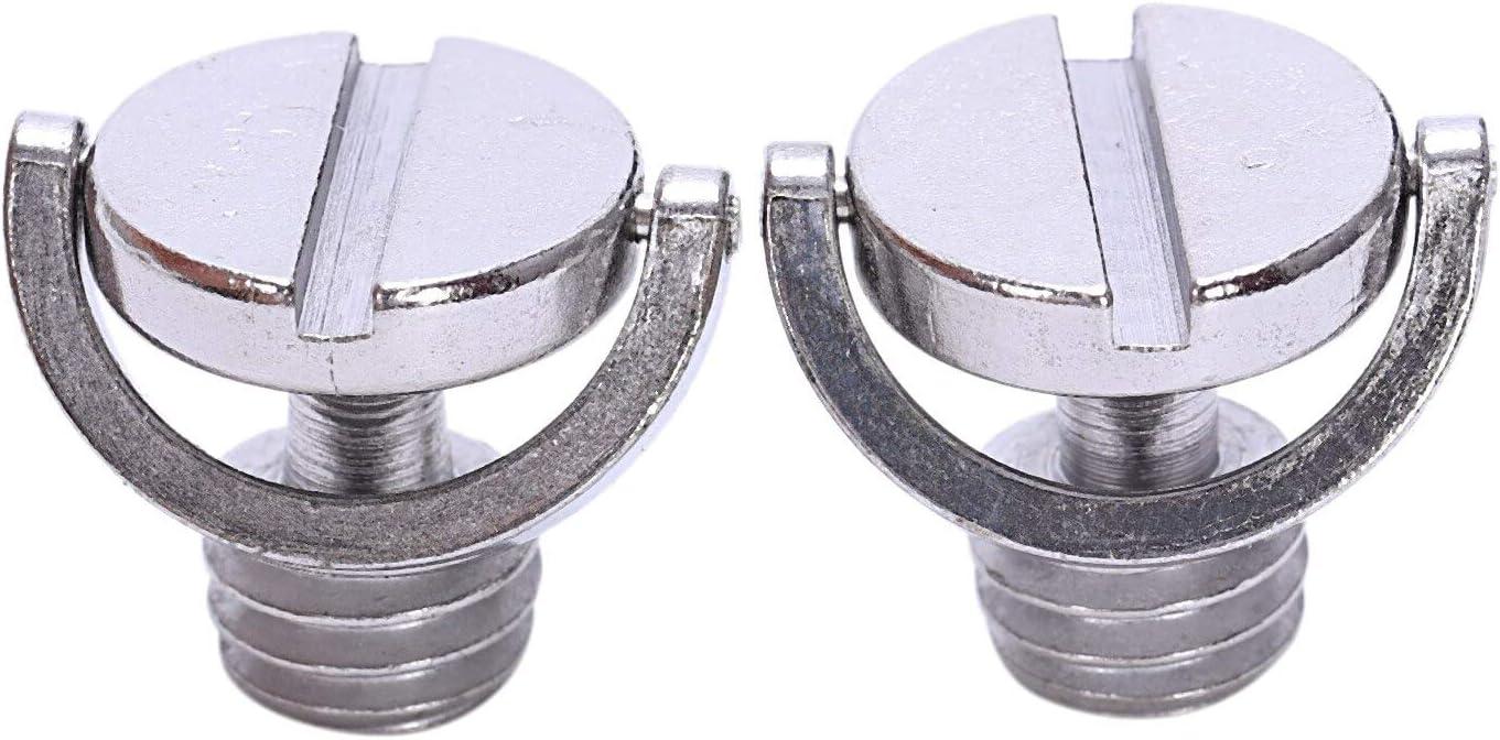 Kul-Kul Pack of 2 Longer Shaft D-ring Screw 3//8 inch-16 Thread Camera Tripod Quick Release Fixing Screw Adapter